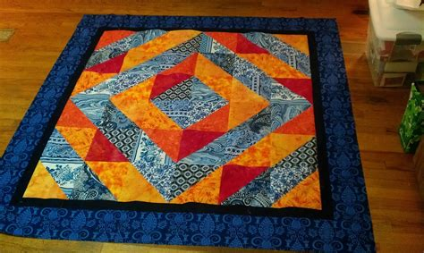 Orange Quilt Lovely Frankenstein S Quilting Laboratory A Color Theory