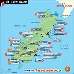 maps update 664997 new zealand tourist map south island