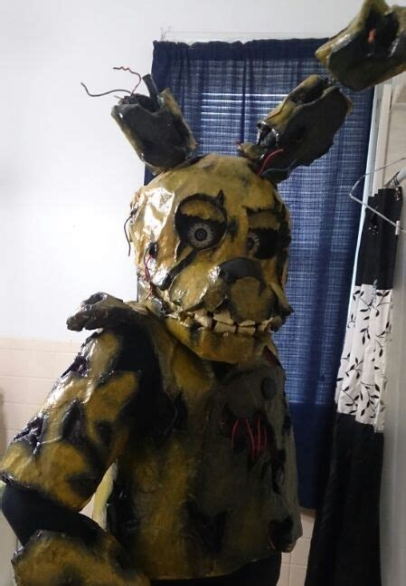 Cosplayupdate springtrap suit upper half is almost done this me