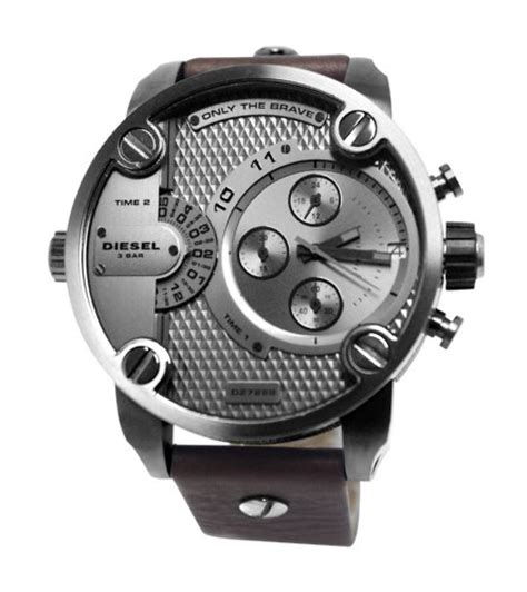 Diesel Dual Brown diesel only the brave chronograph dual time zone