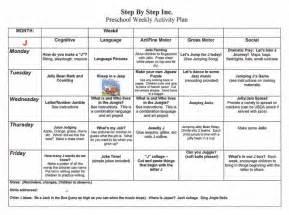 daily lesson plan template for kindergarten emergent curriculum preschool lesson plan template