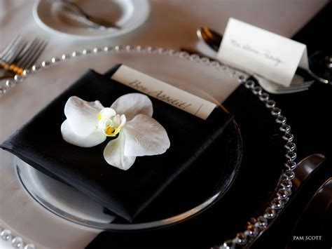 black and white table setting index of v1site images galleries gallery8