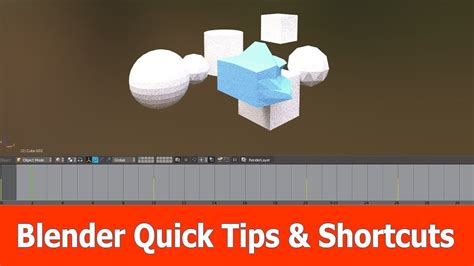 4 quick tips to find blender quick tips shortcuts youtube