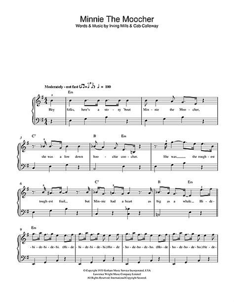 Minnie The Moocher sheet music by Cab Calloway (Beginner ... Minnie The Moocher Chords