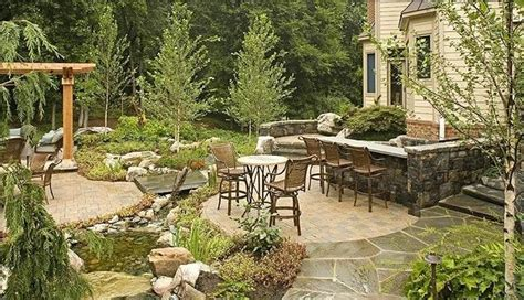 country style backyard country landscape design sterling va photo gallery