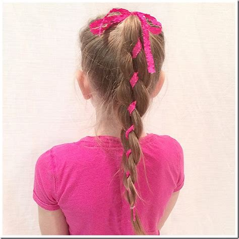 cute hairstyles ribbon 20 easy christmas hairstyles for little girls
