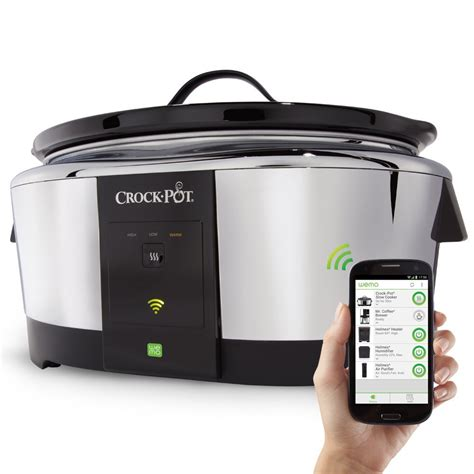 wifi cooker crock pot smart wifi enabled wemo 6 quart cooker only