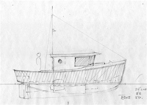 displacement fishing boat plans tanu 24 full displacement aluminum cruiser and day