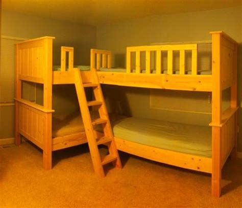 quad bunk beds quad bunk inspiration only diy furniture pinterest
