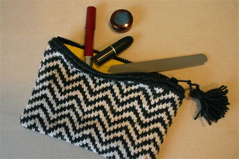 knitted zippered pouch pattern zippered pouch love is all you knit