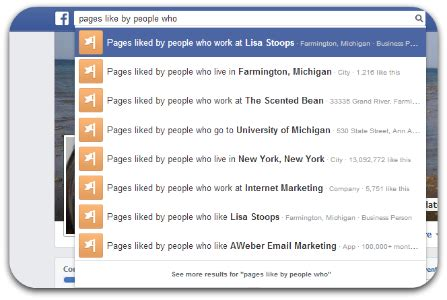 Graph Search Can Locate Who Like A Page And Are Of A Certain Age How To Use S Graph Search To Find Your Ideal Customers