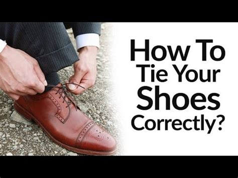 how to tie dress shoes correctly right vs wrong shoe