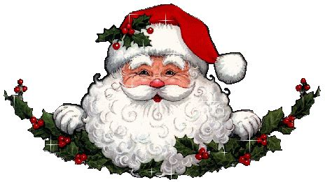 moving santa claus santa clause clip animations