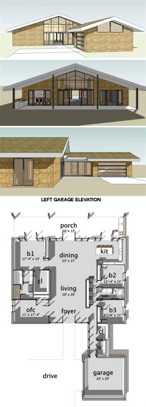 cliff may house plans 8 cliff may inspired ranch house plans from houseplans com