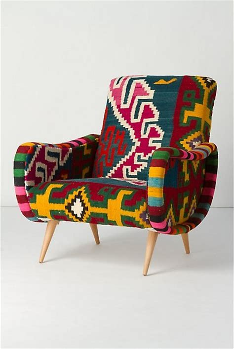 tribal pattern chair chair colorful ethnic furniture patternation image