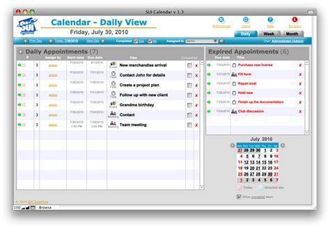 Filemaker Calendar Template by Sui Calendar Sui Solutions Filemaker Templates