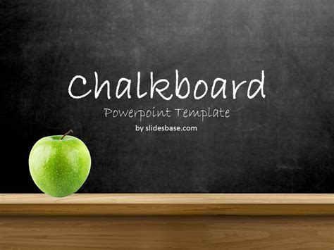 Blackboard Chalkboard Powerpoint Template Slidesbase Free Powerpoint Template For Teachers