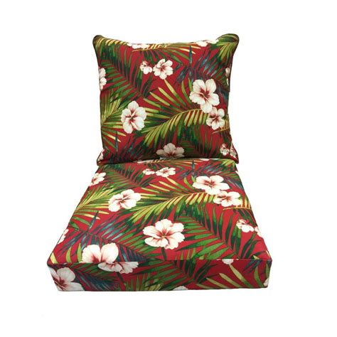 shop garden treasures floral cushion for seat