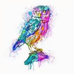 colorful drawings colorful owl mixed media by marian voicu