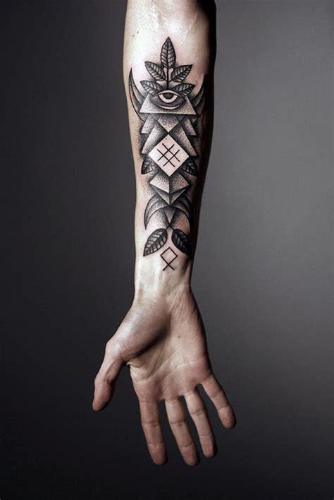 tattoo inspiration male forearm innovative geometric tattoo inspiration