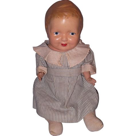 composition doll early baby boy composition doll from mydollymarket2 on