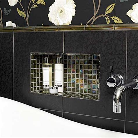 black mosaic bathroom black tiled bathroom bathrooms decorating ideas