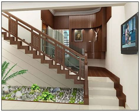 kerala home design staircase homedsgn railing wood glass google search 1635 perkins