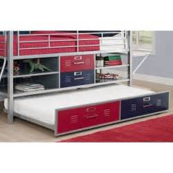 twin locker bed trundle for twin silver locker bed in blue and red 5565196