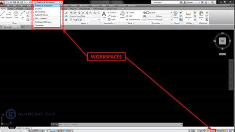 mostrar barra superior autocad 191 conoces los workspaces espacios de trabajo en autocad