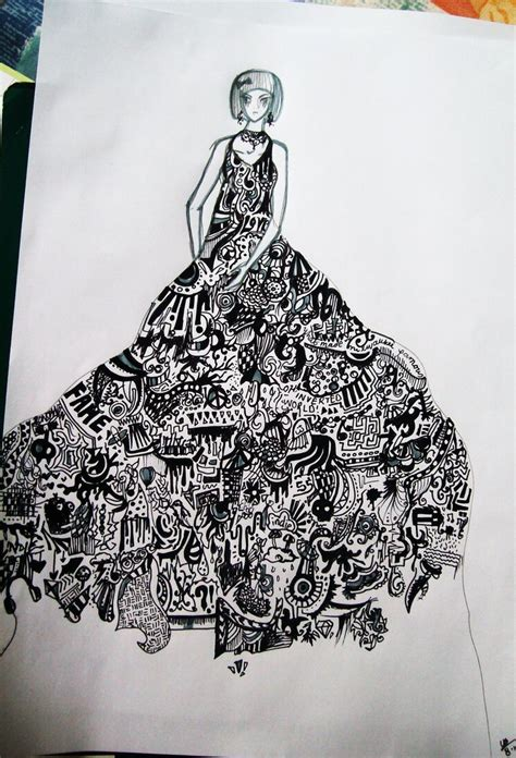 Dress Doodle incomplete doodle dress by superfluous x on deviantart