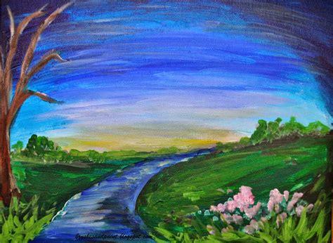 contoh gambar lukisan pemandangan belajar bersama jesica