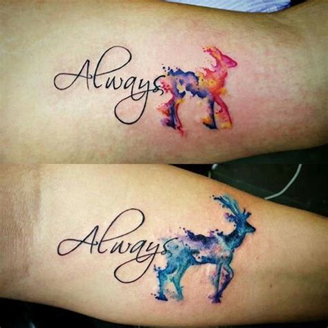 forever and always tattoos for couples best 25 doe ideas on
