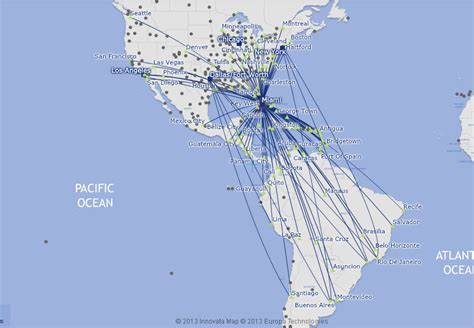 aa route map usa american airlines route map south america