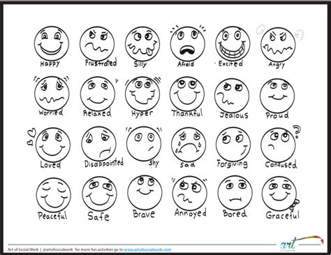 printable emotion faces chart feeling faces printable coloring sheet printable