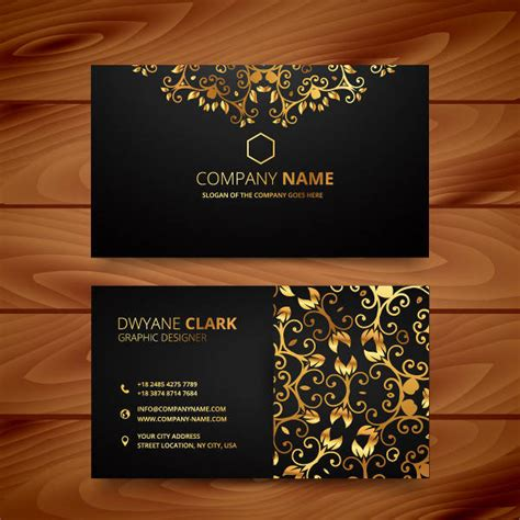 gold and busnnes card template 26 beautiful luxury business card free premium templates