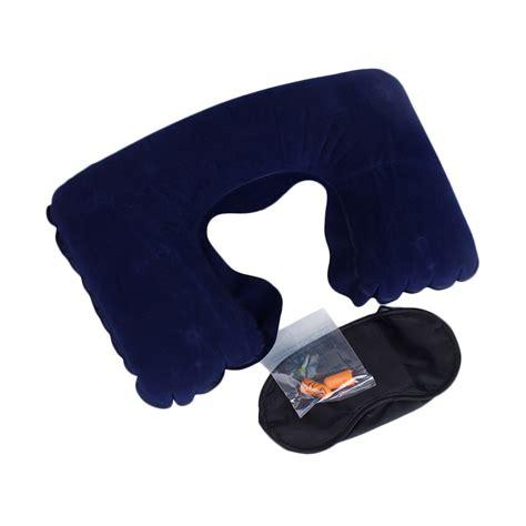 Bantal Leher Travel Pillow Set jual lullaby travel pillow bantal leher biru tua harga kualitas terjamin blibli