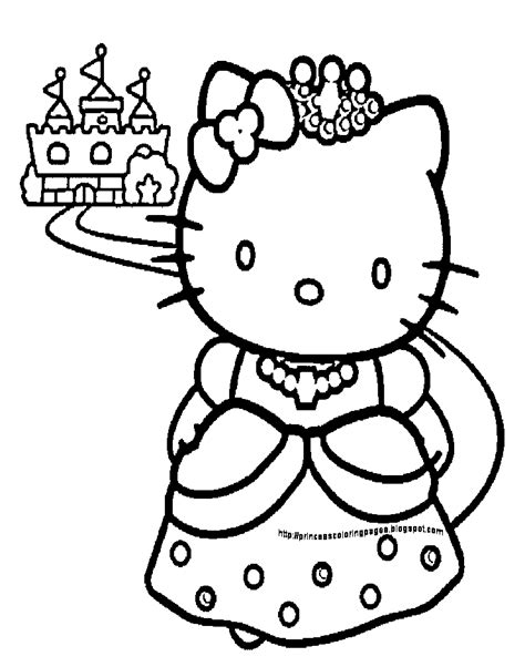 hello kitty coloring pages hello kitty princess coloring