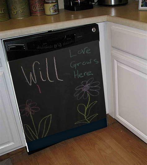 Chalkboard Dishwasher Art Cover