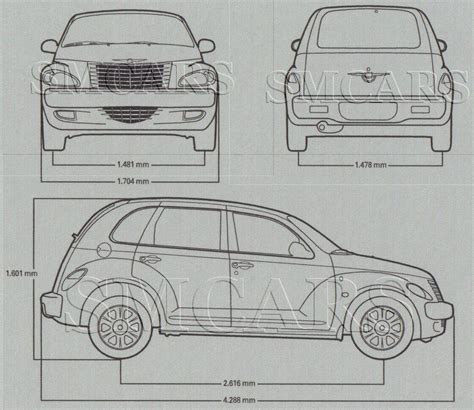 blue print size tutorials3d blueprints chrysler pt cruiser