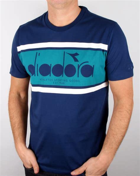 T Shirt T Shirt Diadora diadora logo t shirt estate blue porcelain green s