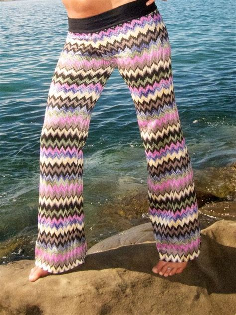 crochet pattern yoga pants crochet knit chevron stripe boho beach gypsy festival