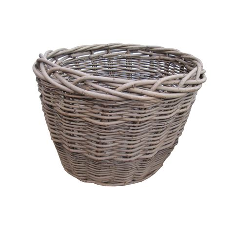 rattan baskets buy wild willow oval wicker log basket online from the