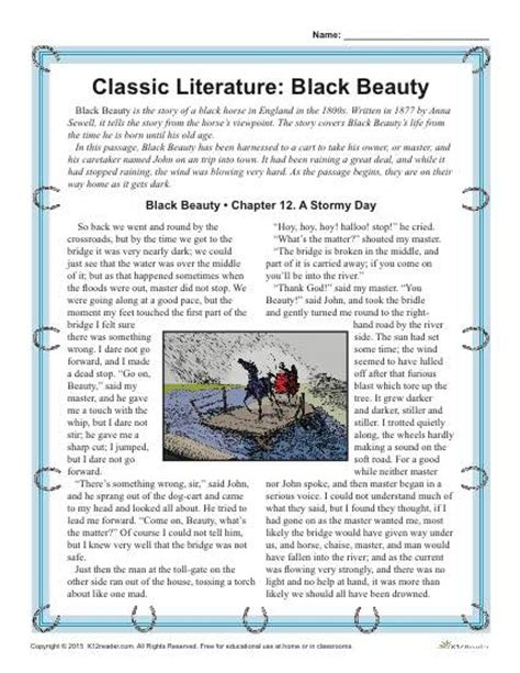 themes in children s literature pdf black beauty worksheets adriaticatoursrl