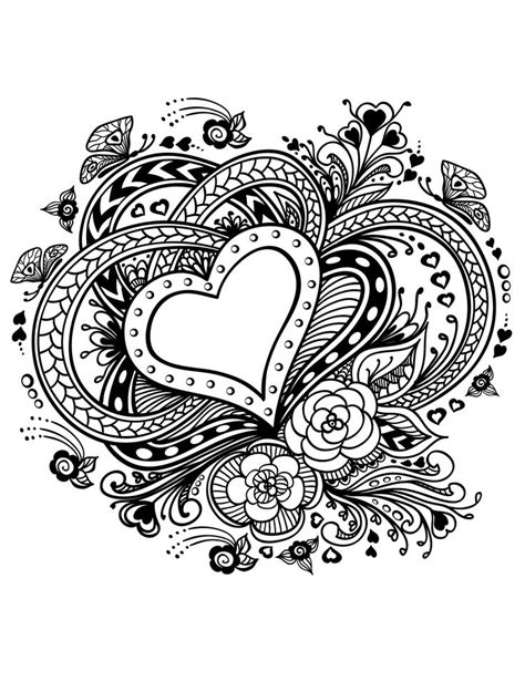 paisley heart coloring page 140 best images about hearts to color on pinterest