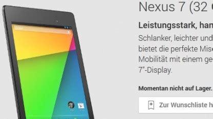 wann kommt neues nexus neues nexus 7 im play store ausverkauft golem de