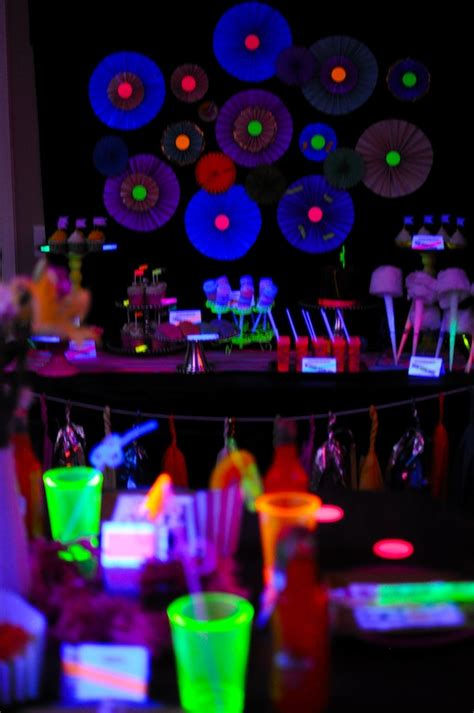 party themes glow in the dark neon glow in the dark party 435 kara s party ideas