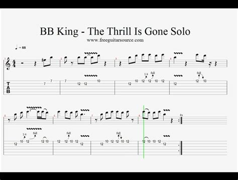 The Thrill Is by Bb King The Thrill Is Guitar Lesson