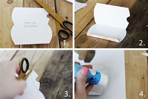 How To Make A Paper Pillow - diy pillow gift box