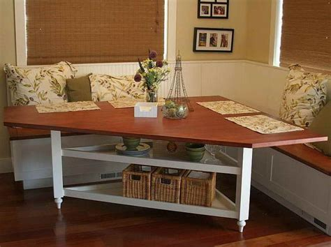 diy corner bench kitchen table 9 best images about breakfast nook on stripes