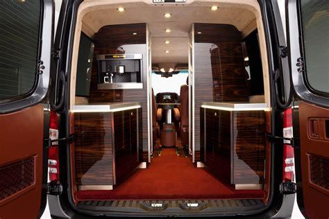luxury minivan interior hartmann mercedes benz sprinter luxury rolling airplane